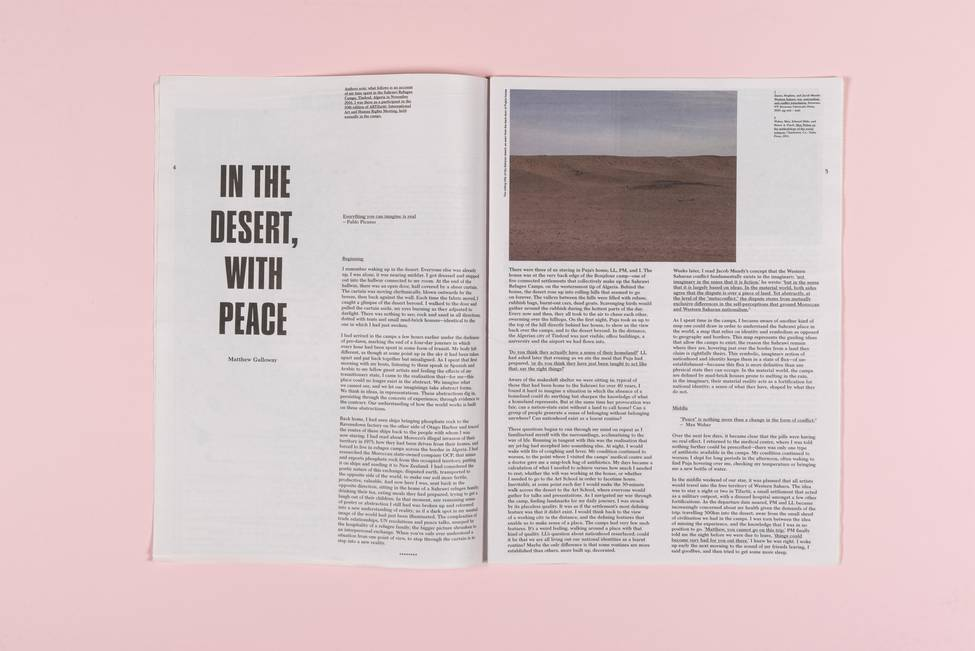 In the Desert, with Peace image